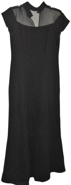 Item - Black Vintage Gown with A Sheer Top Long Formal Dress Size 6 (S)