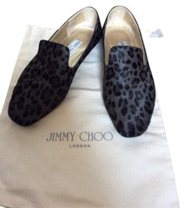 Jimmy Choo Animal Print Black/grey Flats
