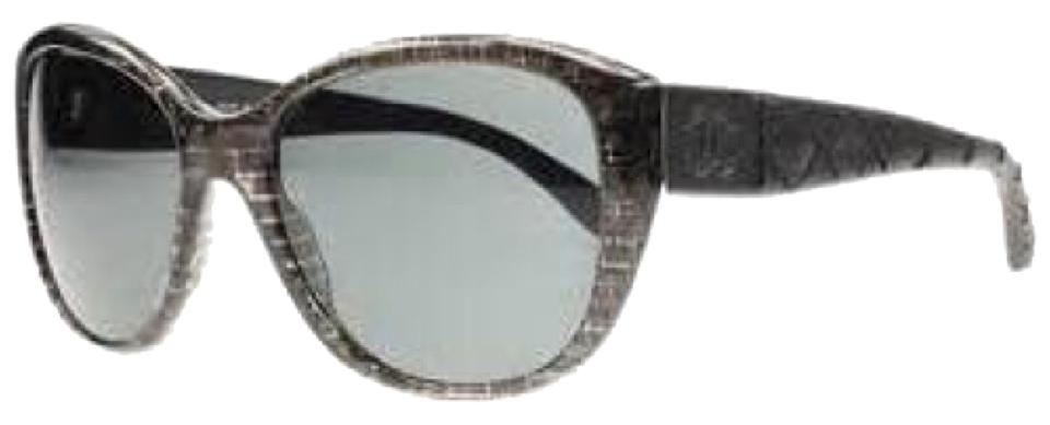 Chanel Blac 5199q Grey Smoke Leather Quilted Sunglasses - Tradesy : chanel quilted sunglasses - Adamdwight.com