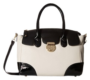 Emma Fox New Brand New Framed Satchel in Bone Black