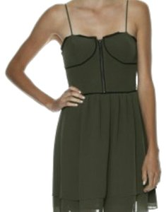 Patterson J. Kincaid Pjk Coreset Bustier Harley Green Military Hunter Skirt Zip Zipper Sweetheart 0478979345314 Emily Theory Aqua Uprichard Dress
