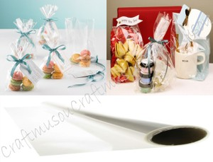 Sparkle Clear Cellophane Wrap Roll 30 Inches By 100 Feet For Presents Gift Wrapping And Party Favors.