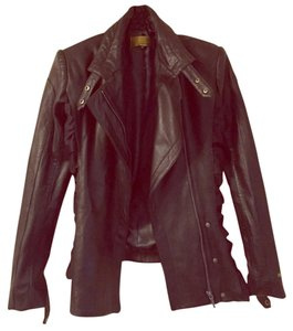 Nicole Miller black Leather Jacket