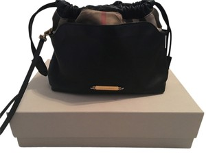 Burberry Littlecrush Handbag Leather Satchel Cross Body Bag