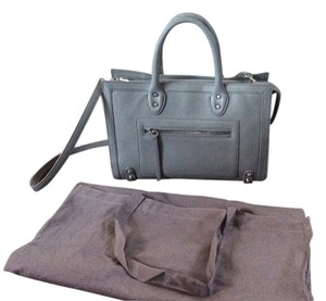 Linea Pelle Satchel in Dove Gray