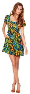 Shoshanna short dress Multi Print Silk Floral on Tradesy