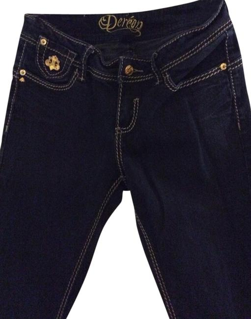 House of Deréon Boot Cut Jeans-Dark Rinse