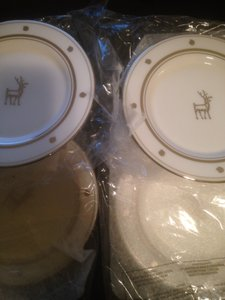 Kate Spade White Two Box Of Plates