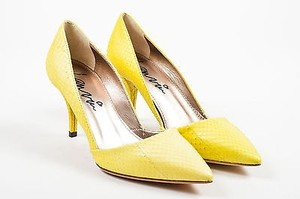 Lanvin Lemon Snakeskin Yellow Pumps