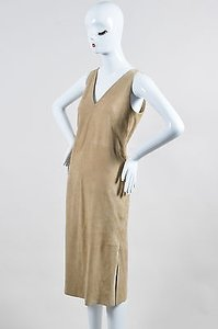 The Row short dress Beige Suede Rahool Sleeveless Shift on Tradesy