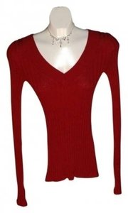 Express Super Soft In Color V-neck Size S Throughout Stretchy Sweater