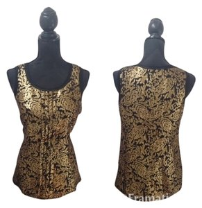 DKNY Top Black And Gold