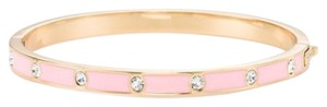 Kate Spade Kate Spade SET IN STONE ENAMEL STONE HINGED BANGLE In Pink New
