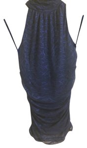 Express Tunic Blue Halter Top