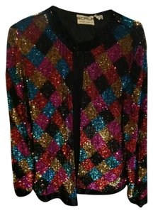 Scala Red, Gold, Purple, Turquoise and Black Jacket
