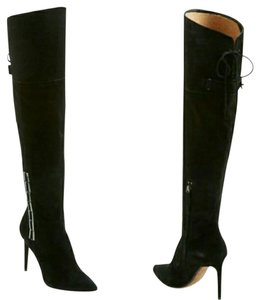 Dolce Vita Suede Over The Knee Black Boots
