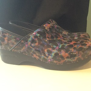 Dansko Black and multi Mules