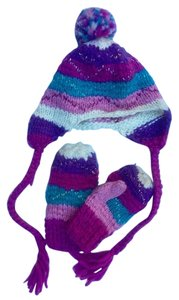 Claire's Youth Hat and Mittens Set