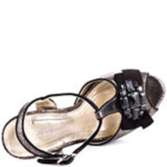 BCBGeneration Gold/Black Sandals