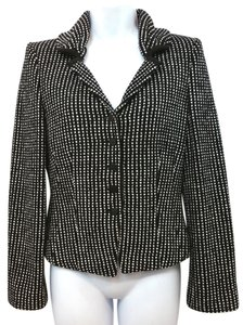 Giorgio Armani Wool Tweed Jacket BLACK/WHITE Blazer