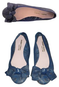 Modern Fiction Perforated Blue Flats