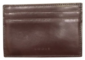 Lodis Brown Leather Credit Card Holder Wallet