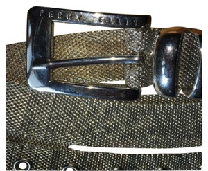 Perry Ellis silver mesh belt