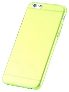 """Other Neon Green - IPhone 6 / 6s Plus 5.5"""" TPU Rubber Gel Ultra Thin Case Cover Transparent Glossy 10 Colors Available"""