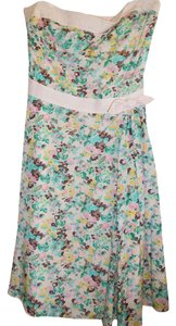 Beth Bowley short dress Pink, yellow, turquoise, white Floral Pink on Tradesy