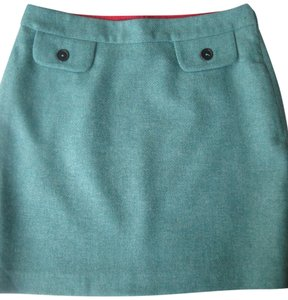 Boden Lined Wool Mini Skirt Turquoise