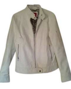 Esprit White Leather Jacket