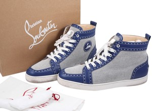 Christian Louboutin Rantus Orlato Sneakers High Tops Blue/White Athletic