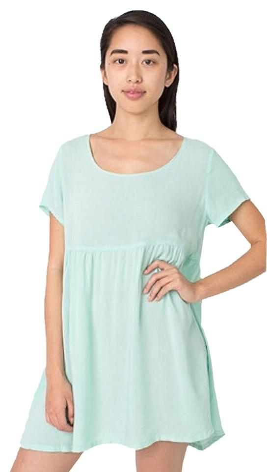 9c05ab361e0 American Apparel Menthe Rayon Babydoll Short Casual Dress Size 4 (S ...