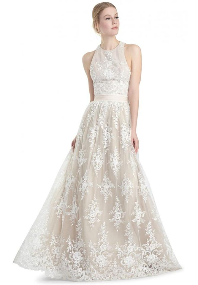 Alice Olivia White Rayon Nylon Cotton Polyester Polyethylene Lace Vintage Wedding Dress Size 4 S Tradesy