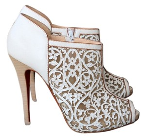 Christian Louboutin Luxury Bootie Pump Open Toe White Boots