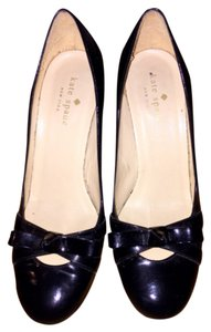 Kate Spade Mary Jane Patent Leather Bow Black Pumps