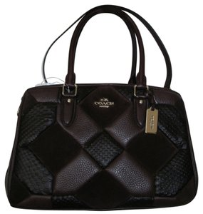 Coach 36400 Empire Caryall In Patchwork Leather Satchel in Ox Blood