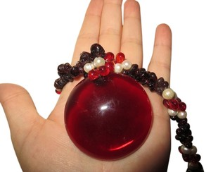 Other Garnet and Freshwater Pearl Necklace