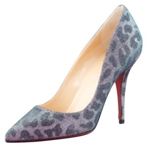 Christian Louboutin Red Platform Pigalle Black Lame Pumps