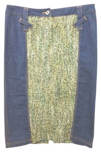 Dolce&Gabbana D & G Dolce & Gabbana Denim Pencil Skirt BLUE/GREEN