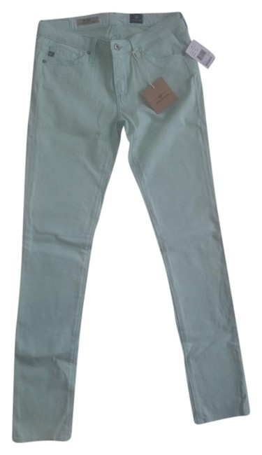 AG Adriano Goldschmied Mint Green Straight Leg Jeans
