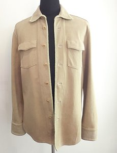 John Varvatos Men Suede Button Down Jacket Sz 40