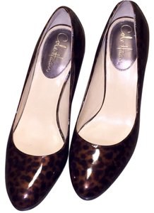 Cole Haan Nike Air Shell Leopard Patent Leather Platform Tortoise Pumps