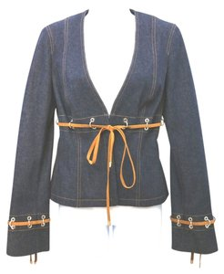 Escada Jean BLUE Womens Jean Jacket