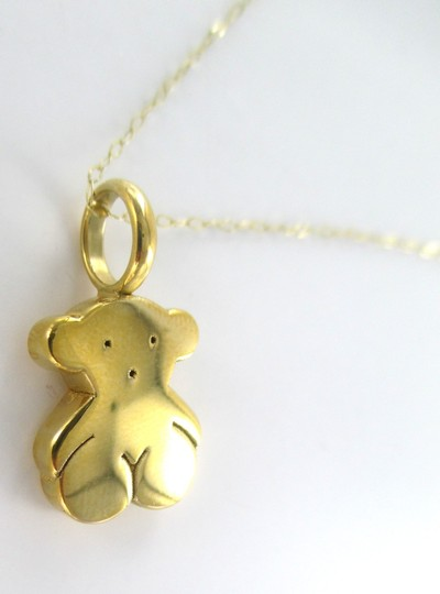 TOUS TOUS 18KT SOLID YELLOW GOLD BEAR AND NECKLACE DESIGNER SET FINE