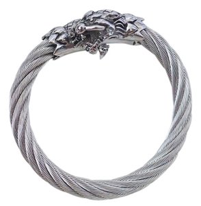 Steel Time Limited Unisex Rhodium Dragon Bracelet