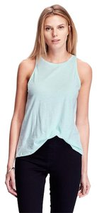 Old Navy Relaxed Cotton Blend New Top Light Blue