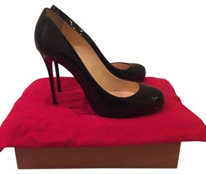 Christian Louboutin Patent Leather Stiletto Pump Black Pumps
