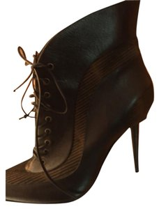 Manolo Blahnik Black and brown, leather and pony hair Boots