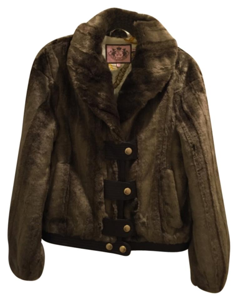 fe90e1299766 Juicy Couture Brown Faux Coat Size 8 (M) - Tradesy